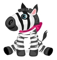 cartoon Zebra toy isolated animals vector image