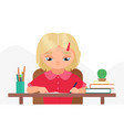 children study education at home or classroom vector image