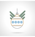 Christmas ball flat color line icon vector image vector image