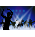 Christmas Night Party vector image vector image