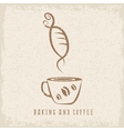 coffee and bakery negative space concept grunge vector image vector image