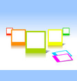 colorful photo frames vector image vector image