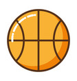 cute basketball isolated icon vector image vector image