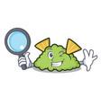 detective guacamole character cartoon style vector image vector image