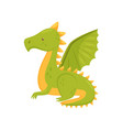 dragon with wings mythical fairy tale creature vector image