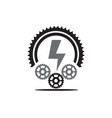 electric chain logo designs for technology modern vector image vector image