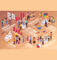 excursion isometric infographics vector image vector image
