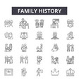 family history line icons signs set vector image