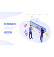 feedback concept with star rating for excellence vector image