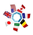 flags countries of the Group of seven vector image