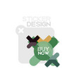 flat design cross shape geometric sticker icon vector image vector image
