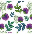 floral decoration pattern background vector image vector image
