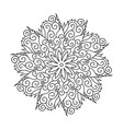 flower round ornament mandala vintage decorative vector image vector image
