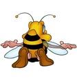 Flying Honeybee vector image vector image