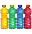 Four water bottles vector image