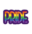 gay pride lettering hand draw style vector image vector image