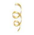 golden curl ribbon mockup realistic style vector image vector image