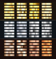 golden silver and bronze gradient set collection vector image vector image