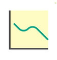 graph shows lower results icon design 48x48 vector image vector image