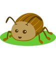 Green Beetle Isolated vector image vector image