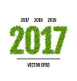 green grass 2017 vector image