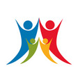happy people together icon vector image vector image