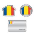 home icon on romania flag vector image