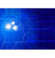 human brain background vector image vector image