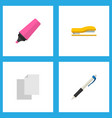 icon flat stationery set of highlighter pen vector image vector image