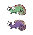 isolated cartoon lizard on white vector image vector image