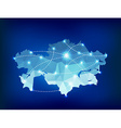 Kazakhstan country map polygonal with spot lights vector image vector image