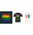 lgbt flag typography for t-shirt print stamp vector image vector image