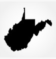map us state west virginia vector image vector image