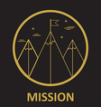 mission mountain climb logo design template in vector image