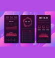 mobile phone ui design forex trading platform vector image