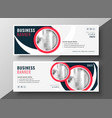 modern business cover banner professinal red vector image