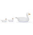 Mom Duck With Babies vector image vector image