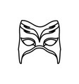 monochrome silhouette with festive mask with wings vector image vector image