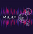 music speakers background in neon style design vector image