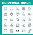network icons set collection of web profile read vector image vector image