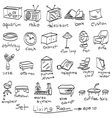 objects in living room doodles vector image