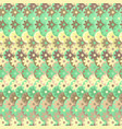 pattern with flowers in green colors vector image