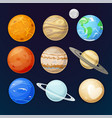 planets of the solar system vector image vector image
