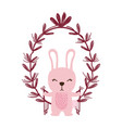 rabbit with leaves vector image vector image