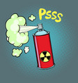 radioactive waste gas vector image