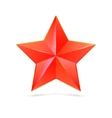 realistic five-pointed star vector image vector image