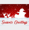 red christmas card template vector image vector image