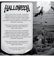 retro bw halloween poster ready for design vector image
