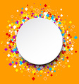 Round background with color rhombs vector image