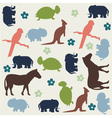 Seamless animal pattern for kids vector image vector image